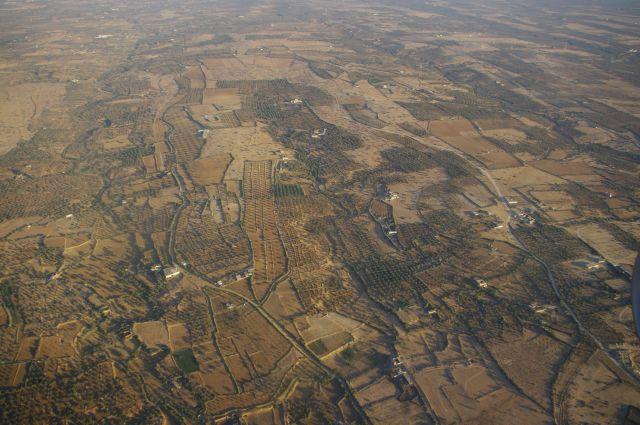 Tunisko z letadla